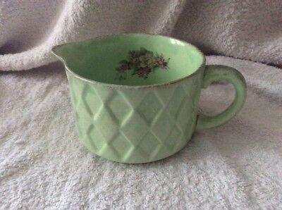 Vintage George Clews Jubilee Green Pottery Jug - Retro