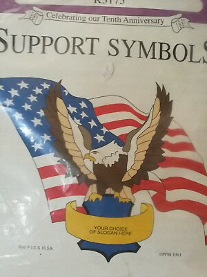 American Eagle Flag Pretty Punch Embroidery Kit No K3175 Support Symbols