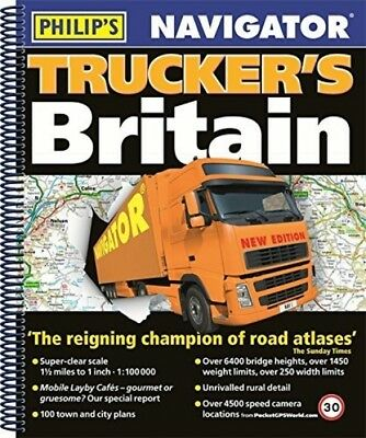 Navigator Trucker's Britain 2018: Spiral Philips Road Atlas Spiral-Bound