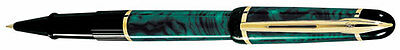 Waterman Phileas  Marble Green  &  Gold   Rollerball Pen New   In Box