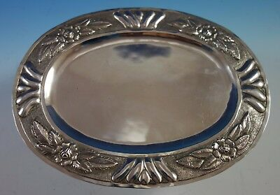 "Aztec Rose by Sanborns Mexican Sterling Silver Serving Platter 10 1/2"" (#1861)"