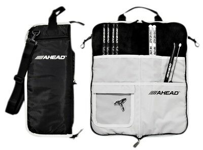 Ahead Deluxe Stick Bag Black with Gray Trim, Gray Interior