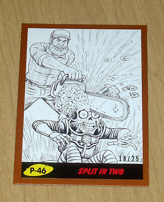 2017 Topps MARS ATTACKS Revenge BRONZE parallel pencil art P-46 /25