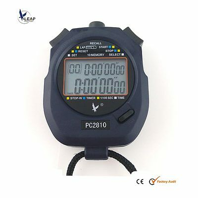 NEW Large 2 row display 10 dual split recallable memory Stopwatch Sports Timer