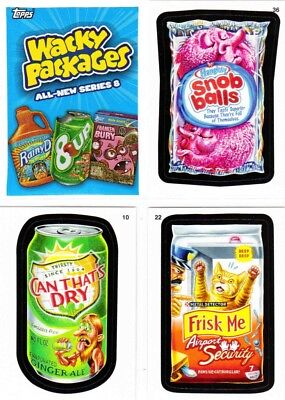 WACKY PACKAGES ALL-NEW SERIES/ANS 8 (2011)--Complete 55-Sticker Set + Wrapper^