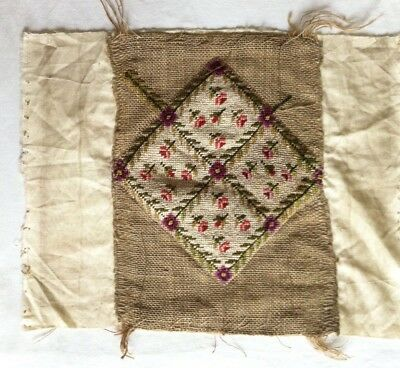 Old Vintage Completed Floral Tapestry Needlepoint Canvas cushion PROJECT