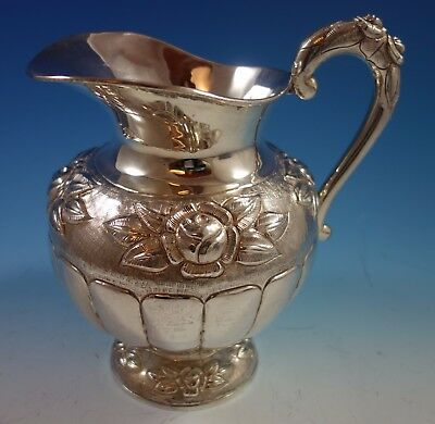 Aztec Rose by Sanborns Mexican Sterling Silver Water Pitcher (#1868)