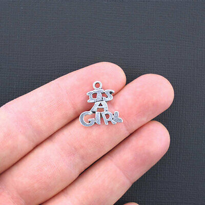 SC065 BULK 50 Baby Feet Charms Antique Silver Tone So Cute
