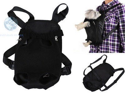 Zaino Marsupio Trasportino Nero Borsa Custodia Per Cane Animali Bag Dog