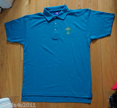 Golf Ireland Ryder Cup 2006 Turquoise Blue Polo Shirt Large New