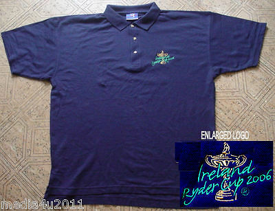 Golf Ireland Ryder Cup 2006 Polo Shirt Navy Blue  X Large New