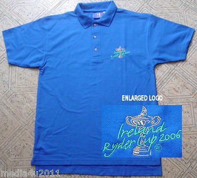 Golf Ireland Ryder Cup 2006 Blue Polo Shirt Medium New