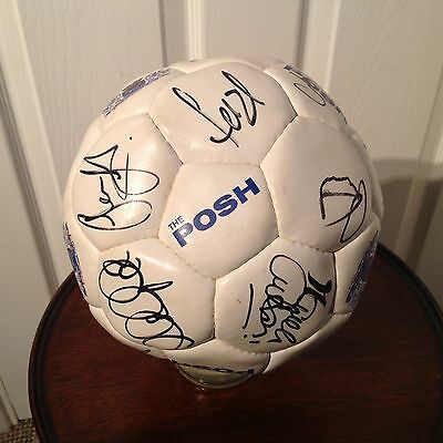 "Peterborough United F.c.-Signed Foot Ball "" The Posh """