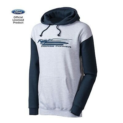 Men's Ford Mustang Independent Hoodie Jacket Official Licensed Gray