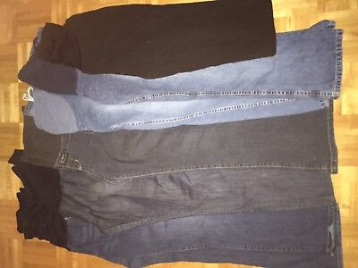 10 piece lot of maternity clothes - size medium and large