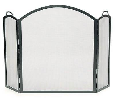 Wrought Iron Three-Fold Firescreen w Arched Tops [ID 263629]