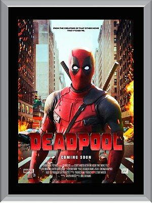 Deadpool Marvel Movie A1 To A4 Size Poster Prints