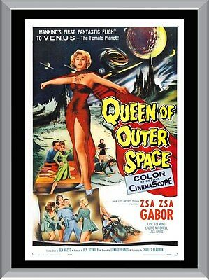 Queen Of Outer Space Vintage Movie A1 To A4 Size Poster Prints
