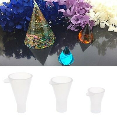 Cone Silicone Mold For Resin Epoxy Casting Jewelry Making Craft Tools Mould DIY