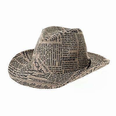 8d33b32bc1c WITHMOONS WESTERN COWBOY Hat Cool Paper Straw Banded Chin Strap ...