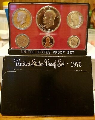 1975 United States Mint Proof Set In Original Packaging 6 Coin Set *real Nice*