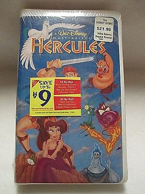Walt Disney HERCULES Masterpiece Collection 1998 VHS **NEW and SEALED**