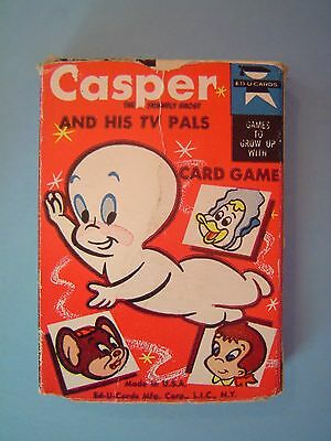 Vintage 1960's Casper & His TV Pals Ed U Card Game Complete Deck