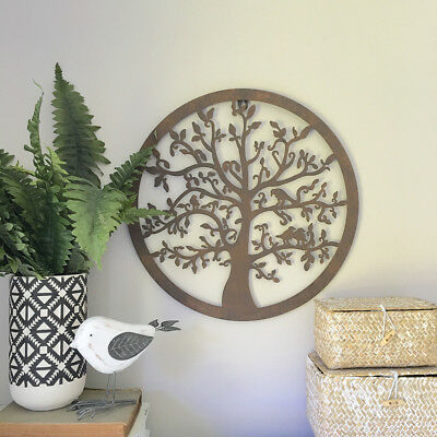 Decorative Round Metal Wall Panel/Garden Art/Wall Decor Sculpture Outdoor/Tree