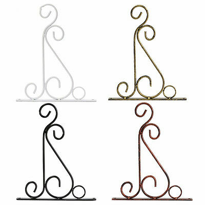 Outdoor Wrought Iron Hooks Hangers Plant Stand Flower Pot Holder Accessories