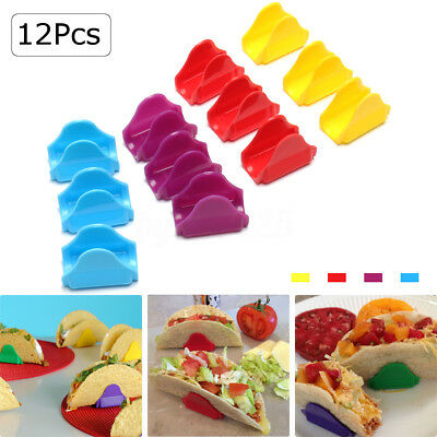 12Pcs 4 Colors Unbreakable Taco Shell Holders Stands for Home Kitchen Supply