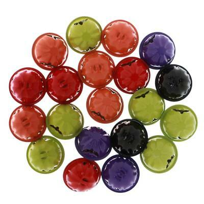 40pcs Colored Jingle Bells Pendants Decorations Party DIY Crafts Accessories