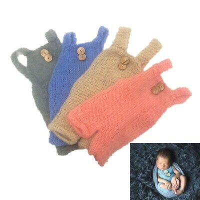 Infant Newborn Baby Boys Girls Knitted Photography Props Romper Clothing Outfits