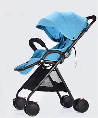 Convenience Lightweight Compact Fold Baby Stroller Pram Pushchair Travel Blue