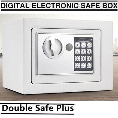 White Personal Electronic Digital Security Small Safe Box Access Home Office