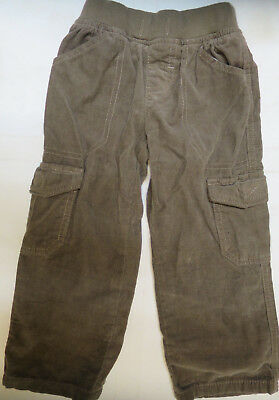 Boys trouses corduroy winter jersey lined ribbed waist M & S age 2 3 4 years NEW