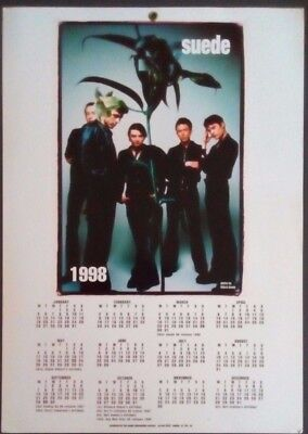 Suede - 1998 fanclub-only double sided calendar - look!