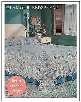 Lace Bed Throw Crochet Pattern Copy