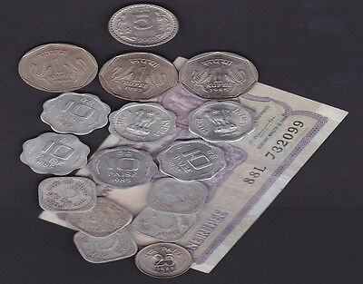INDIA - BANKNOTE & COINS  Comemmoratives/Current values - Collectors/Travellers