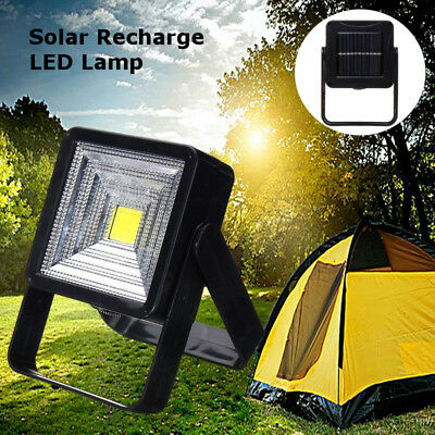 Solar Power COB LED Flood Spot Light Outdoor Garden Camping Hiking Lamp Lantern