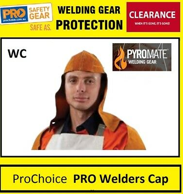 ProChoice PRO Welders Cap with Nape Welding Boilermaker Leather Safety Hat