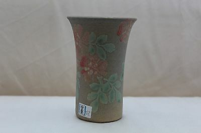 Vintage Hand Painted Conwy Pottery Vase with Floral Design