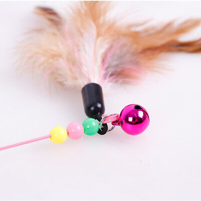 Pet Cat Puppy Kitten Feather +Bell Play Interactive Joke Toy Teaser Play Tool