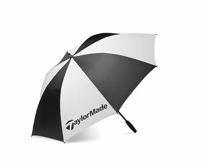"Taylormade Golf Black/white Single Canopy 62"" Umbrella"