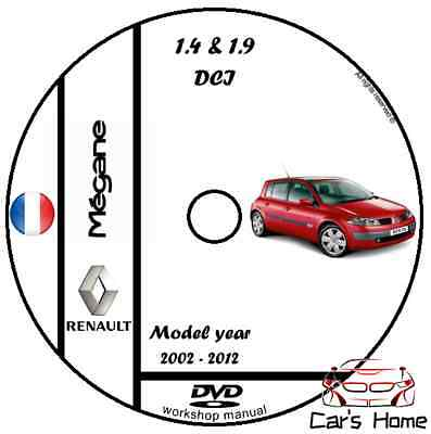 MANUALE OFFICINA RENAULT MEGANE II 1.4&1.9 DCI my 02-12 WORKSHOP MANUAL DVD