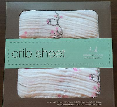 Aden + Anais 100% Cotton Muslin Fitted Crib Sheet ~ For The Birds - Owl ~ New