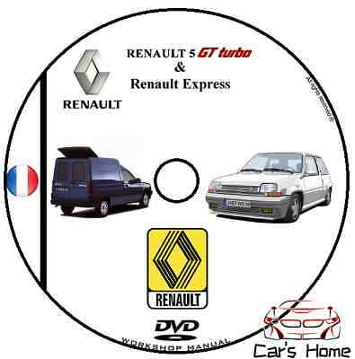 Manuale Officina Renault 5 Gt Turbo & Express Workshop Manual Dvd