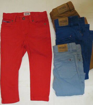 Boys designer jeans red blue slim leg baby 9 12 18 months 2 3 4 5 6 years RRP£49