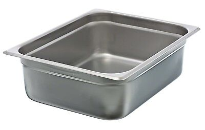 "Update International  4"" Half-Size Anti-Jam Steam Table Pan 7 Quart"