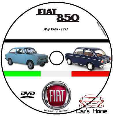 Manuale Officina Fiat 850 My 1964 - 1971 Workshop Manual Service Cd Dvd