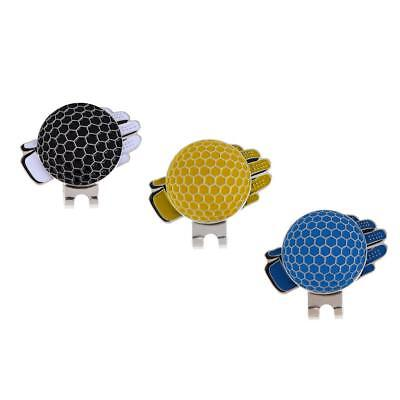 3Pcs Magnetic Hat Clip with Golf Ball Marker Fit for Golf Hat or Visor